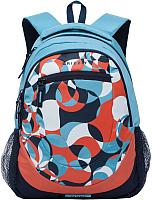 Школьный рюкзак Grizzly RD-751-1 (голубой/синий) -
