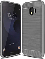 Чехол-накладка Case Brushed Line для Galaxy J4 (матовый серый) -