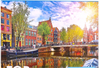 Пазл РЫЖИЙ КОТ Солнечный канал в Амстердаме / ГИТП1000-4139 (1000эл) -