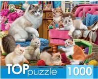 Пазл РЫЖИЙ КОТ Озорные котята / ХТП1000-2158 (1000эл) -