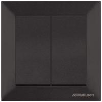 Выключатель Mutlusan Daria 2120 402 0284 (черный) -