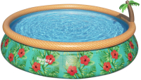 Надувной бассейн Bestway Paradise Palms 57416 (457x84, с фильтр-насосом) -