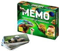 Настольная игра Нескучные игры Мемо Удивительные животные / 7207 -