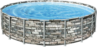 Каркасный бассейн Bestway Power Steel 56883 (610x132, с фильтр-насосом и лестницей) -