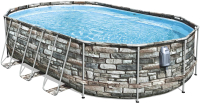 Каркасный бассейн Bestway Power Steel Swim Vista 56719 (610x366x122, с фильтр-насосом и лестницей) -