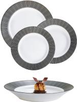 Набор тарелок Luminarc Astre Black P8138 (18шт) -