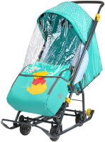 Санки-коляска Ника Disney-Baby 1. Винни и друзья : Винни / DB1/2 (изумрудный) -