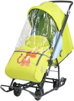 Санки-коляска Ника Disney-Baby 1. Винни и друзья: Тигруля / DB1/3 (лимонный) -