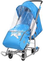 Санки-коляска Ника Disney-Baby 1. 101 Далматинец / DB1/4 (голубой) -