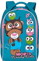 Детский рюкзак Grizzly RS-896-4 (бирюзовый) -