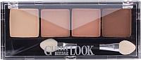 Палетка теней для век Lux Visage Glam Look тон 06 4-х цветные (4г) -