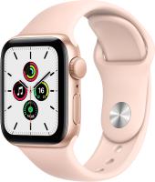 Умные часы Apple Watch SE 40mm / MYDN2 (алюминий золотистый/розовый песок) -
