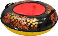 Тюбинг-ватрушка Тяни-Толкай 930мм Хохлома (в чехле, Кабат) -