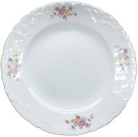 Тарелка столовая мелкая Cmielow i Chodziez Rococo / 7490-0031190 (бабушкин цветок) -