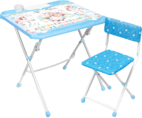 Комплект мебели с детским столом Ника Единорог / КНД4-М/1 -