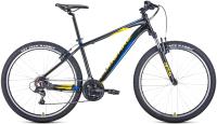 Велосипед Forward Apache 27.5 1.2 2021 / RBKW1M37G002 (15, черный/желтый) -