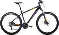 Велосипед Forward Apache 27.5 3.2 Disc 2021 / RBKW1M37G051 (19, черный/оранжевый) -