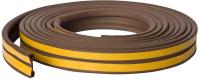 Лента уплотнительная Unibob D-профиль / 46655 (6м, коричневый) -