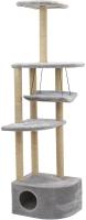 Комплекс для кошек Чип Башня угловая / 8370дб-сер -