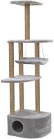 Комплекс для кошек Чип Башня угловая / 8370сер -