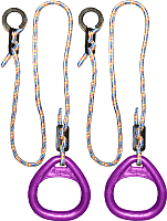 Кольца гимнастические Формула здоровья КГ02В (фиолетовый) -