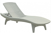 Шезлонг Keter Pacific Lounger (белый) -