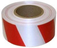 Лента сигнальная Klebebander 50ммх200м (красный/белый) -