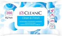 Влажные салфетки Cleanic Clean&Fresh универсальные для рук и тела с клапаном (200шт) -