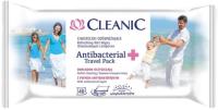 Влажные салфетки Cleanic Antibacterial Travel Pack Освежающие для рук и тела (40шт) -