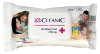 Влажные салфетки Cleanic Antibacterial Family освежающие для рук и тела (60шт) -