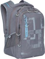 Школьный рюкзак Grizzly RU-138-1 (серый) -