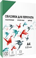 Обложки для переплета Гелеос А4 0.2мм / PCA4-200G (зеленый) -