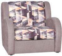 Кресло-кровать Rivalli Барон Н Next 70 с ППУ без подушек (Snow Brown/Lounge 11) -