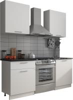 Готовая кухня Eligard Виктория 1.2м (белый/белый/мрамор рома) -