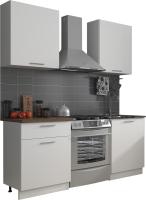 Готовая кухня Eligard Виктория 1.2м (белый/белый/дуб ланселот) -
