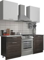 Готовая кухня Eligard Виктория 1.2 (белый/рамка дуб венге/белый) -