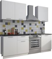 Готовая кухня Eligard Виктория 1.5 (белый/белый/мрамор рома) -