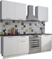 Готовая кухня Eligard Виктория 1.6 (белый/белый/мрамор рома) -