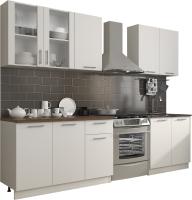 Готовая кухня Eligard Виктория 2.0 (белый/белый/дуб ланселот) -