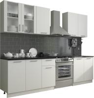 Готовая кухня Eligard Виктория 2.0 (белый/белый/мрамор рома) -