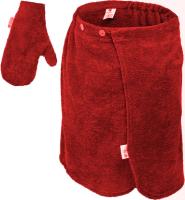 Набор текстиля для бани Банные Штучки 33515 (бордовый) -