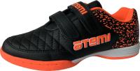 Бутсы футзальные Atemi SD150 Indoor (черный/оранжевый, р-р 29) -