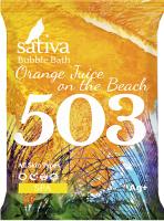 Пена для ванны Sativa №503 Апельсиновый фреш на пляже (15г) -