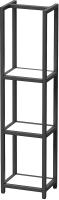Стеллаж Millwood Венеция 40x30x159.5 (дуб белый Craft/металл черный) -