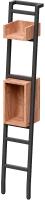 Стеллаж Millwood Венеция 70x60x182 (дуб табачный Craft/металл черный) -