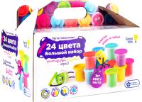 Набор для лепки Genio Kids Тесто-пластилин / TA1097 (24 баночки) -