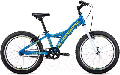 Детский велосипед Forward Comanche 20 1.0 2021 / RBKW11601002 (голубой/желтый)