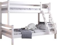 Двухъярусная кровать детская Мебельград Адель (белый) -