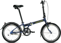 Велосипед Forward Enigma 20 1.0 2021 / 1BKW1C401003 (синий/зеленый) -