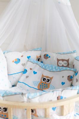 Комплект в кроватку Баю-Бай Раздолье К91-Р4 (голубой)